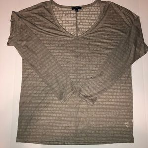 Gap Tan Burnout Shirt